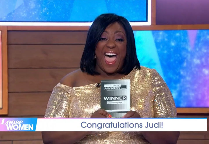 JUDI LOVE WINS BEST BREAKTHROUGH I TALK TELLY AWARD