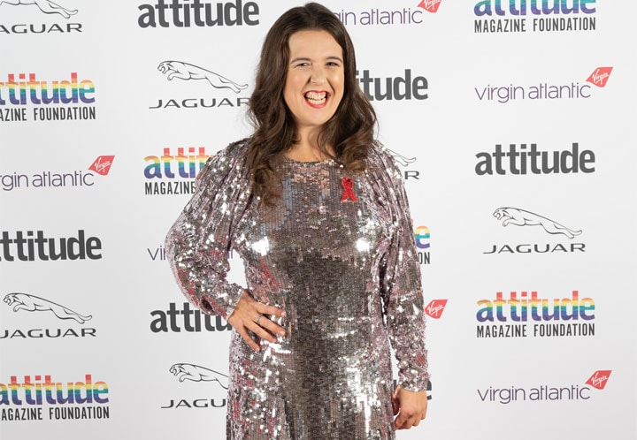 ROSIE JONES WINS COMEDY AWARD AT THE 2020 ATTITUDE AWARDS